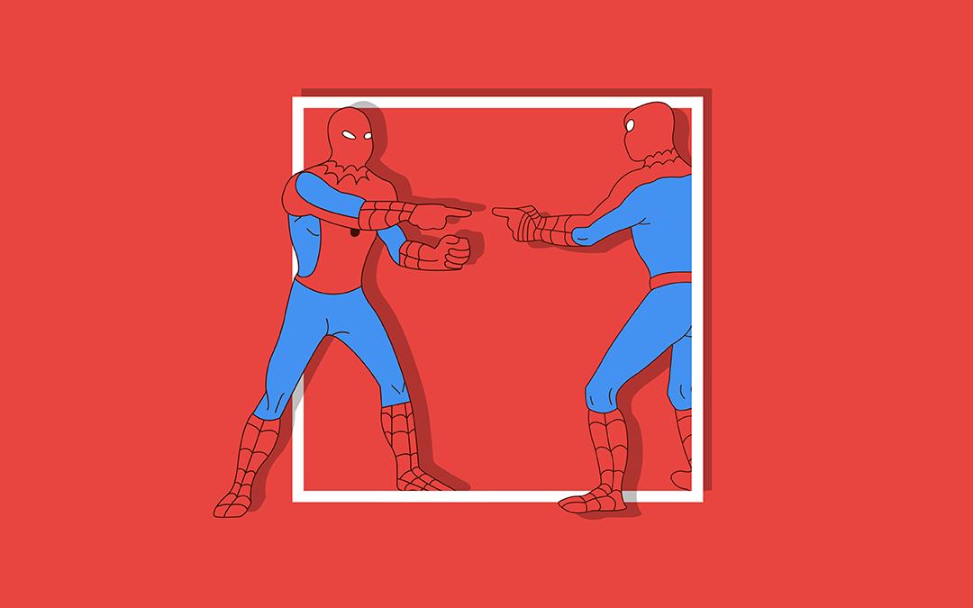 Duplicate content - Spiderman meme copycat